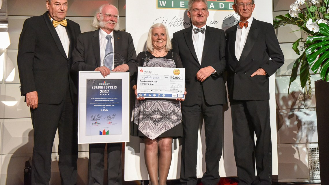 Zukunftspreis der Deutschen Sporthilfe erhält 2017 der Basketball Club Marburg. Bild: Deutsche Sporthilfe