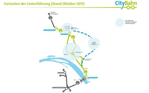 Citybahn, Linienführung. Bild: ESWE Verkehr