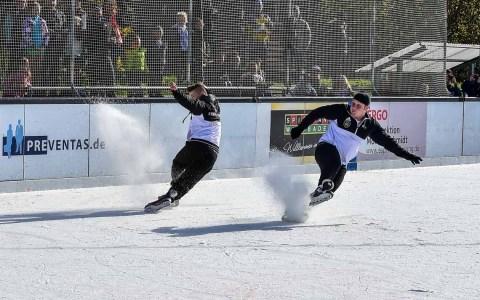Eislaufen in Wiesbaden, Kunsteisbahn bleibt geschlossen.