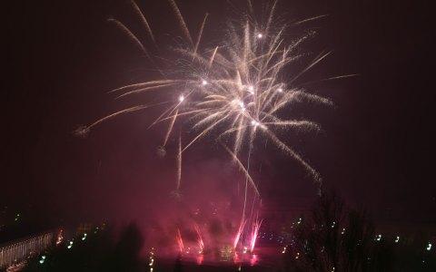1. Januar 2017, Feuerwerk am Bowling Green. Bild: Joachim Sobek