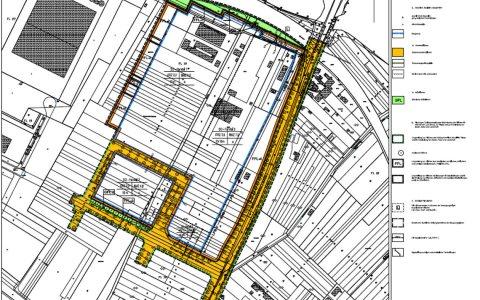 Flächennutzungsplan, Bebauungsplanentwurf, Nördlich der Ernst-Galonske-Straße - Petersweg-Ost in Mainz Kastell. ©2017 Stadtplanungsamt