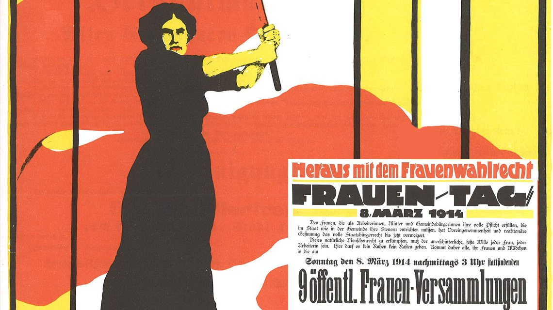Internationaler Frauentag - Von Karl Maria Stadler (1888 – nach 1943) - Scan from an old book, Gemeinfrei