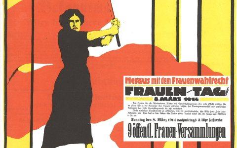 Internationaler Frauentag - Von Karl Maria Stadler (1888 – nach 1943) - Scan from an old book, Gemeinfrei