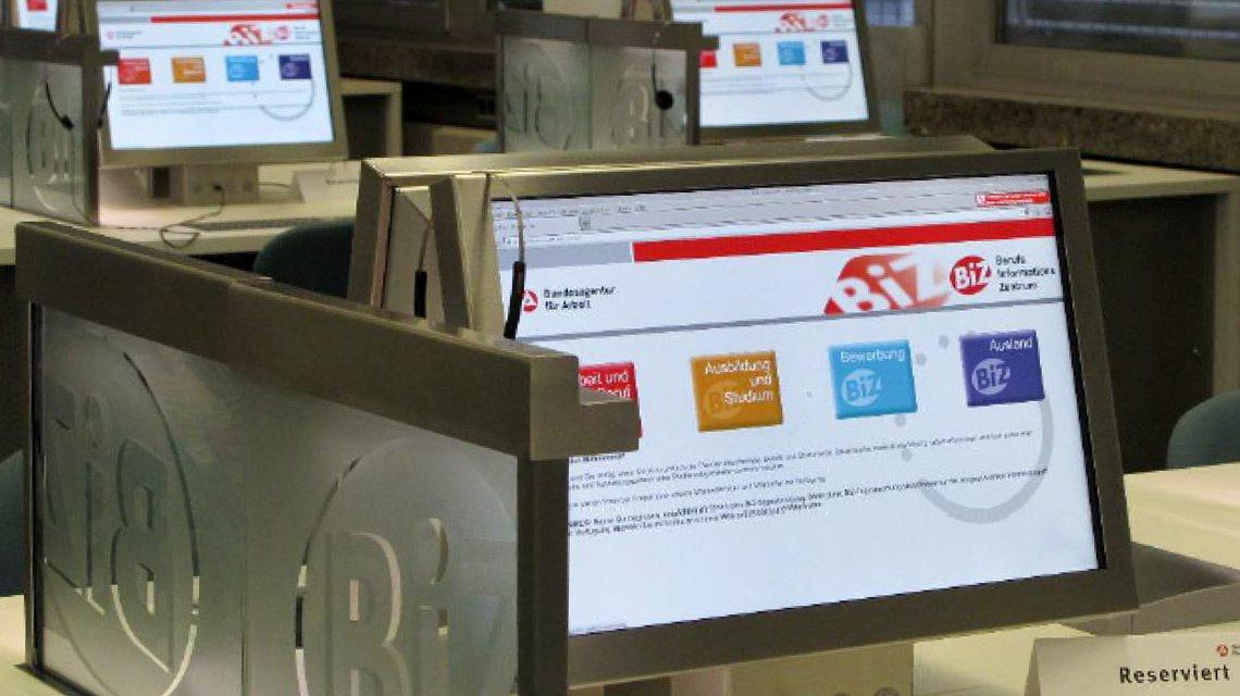 Berufsinformationszentrum - Umfangreiches Internetangebot rund um Ausbildung und Beruf – im BIZ ganz einfach von jedem zu benutzen. ©2018 Agentur für Arbeit