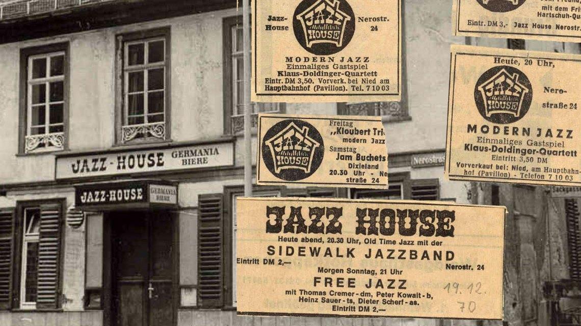1962 war das Jazz House in der Nerostraße einer der angesagtesten Jazz Clubs im Rhein Main Gebiet. ©2018 Stadtarchiv
