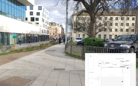 Es gibt eine Lösung für das Nadelöhr an der Elly-Heuss-Schule. ©2018 Stadt Wiesbaden / Volker Watschounek