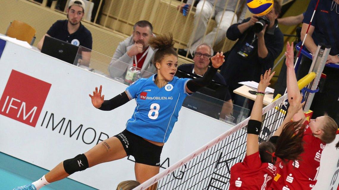 Kimberly Drewniok spielt für Deutschland. @2018 Detlef Gottwald