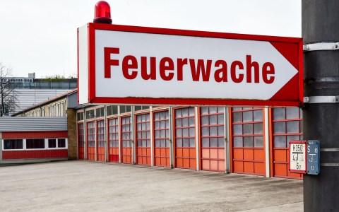 Feuerwehr Feuerwache 1 der Berufsfeuerwehr Wiesabden.