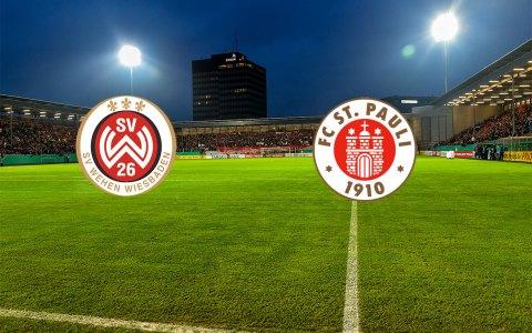 1. Pokalhauptrunde   17. August 2018   SV Wehen Wiesbaden - FC St. Pauli   Brita Arenm