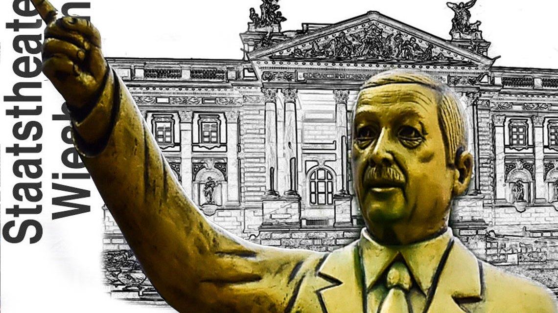 Erdigan in Wiesbadenm Stellungnahme des Staattheaters und der Verantwortlichen der Biennale. ©2018 Volker Watschounek