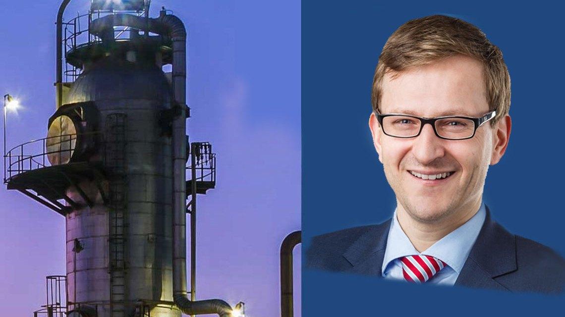Wirtschaftsdezernent Dr. Oliver Franz nach 14 Tage ... @Stadt Wiesbaden, bearbeitet Volker Watschounek