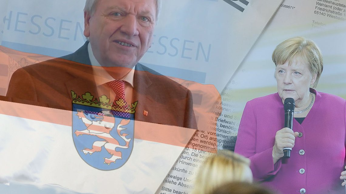 CDU erhält fragwürdige Schützenhilfe aus Berlin. ©2018 bearbeitet Volker Watschounek / Bundesregierung Denzel