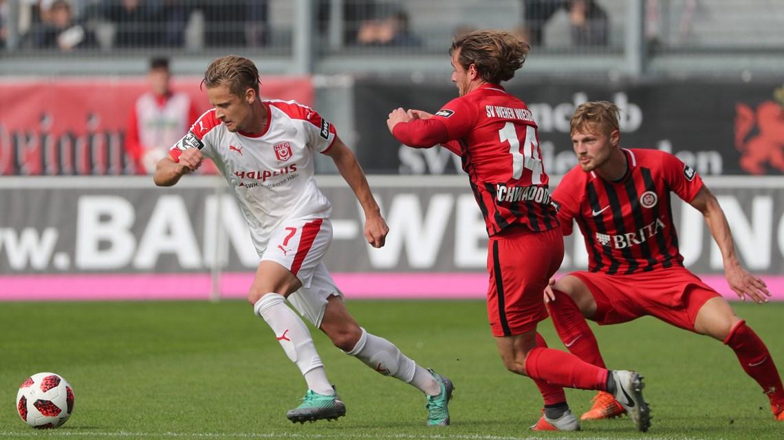 3. Liga | Saison 2018.2019 | 11. Spieltag |SV Wehen Wiesbaden - Hallescher FC | 2_0