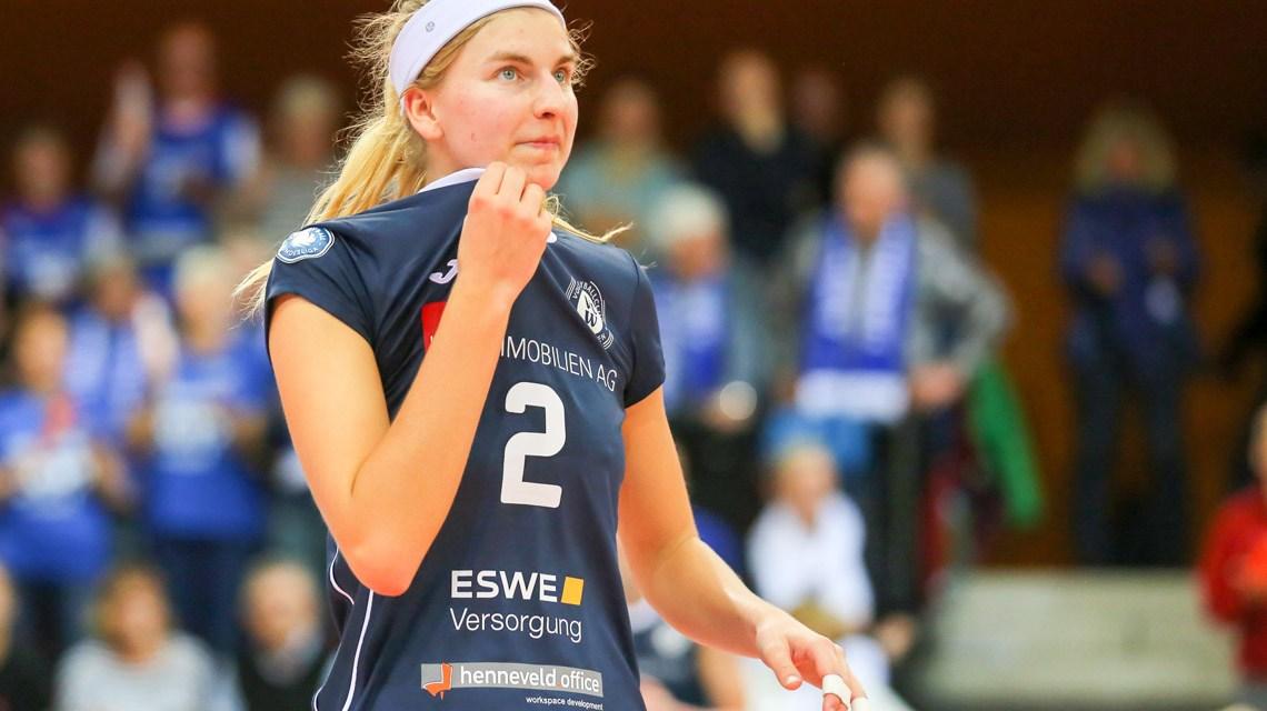 1- Volleyball Bundesliga Damen | 2018.2019 | 3. Spieltag | auswärts | Rote Raben Vilsbiburg - VC Wiesbaden | 3:0 – Nele Barber ©2018 Detlef Gottwald