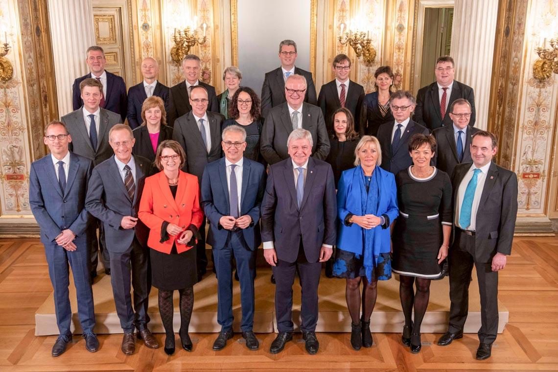 Die neue Landesregierung. Copyright: Hessische Staatskanzlei