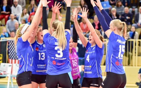 Volleyball Bundeslioga Damen | 2018.2019 | 10. Spielztag { VCW -VCO | 3|:0 ©2019 Volker Watschounek