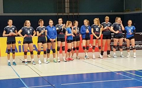 Die zweite Mannschaft des VCW in der Sporthalle am 2. Ring ©2019 Georg Koch
