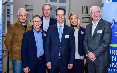 Das neue Präsidium der IHK Wiesbaden: Theo Baumstark, Andreas Voigtländer, Stephan Fink, Präsident Dr. Christian Gastl, Tatjana Trömmer-Gelbe, Karl Koob @2019 Volker Watschounek