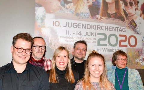 Team des 10. Jugendkirchentags in Wiesbaden. ©2019 Jugendkirchentag