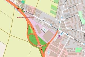 Vollsperrung B455 ©2019 Openstreetmap