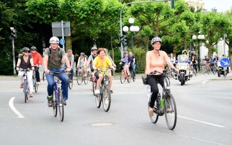 Der Fahrradkorso wird am Montag, 3. Juni, durch die Stadt rollen. @Volker Watschounek