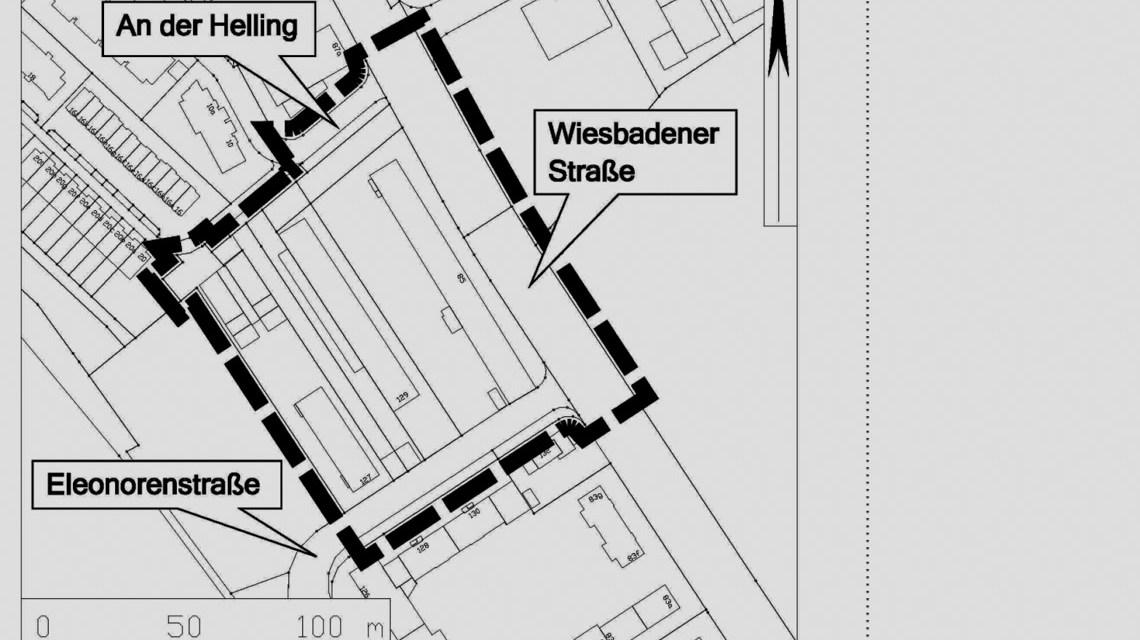 Helling-Höfe (Bebauungsplan im Verfahren) im Ortsbezirk Kastel. ©2019 Stadtplanungsamt Wiuesbaden