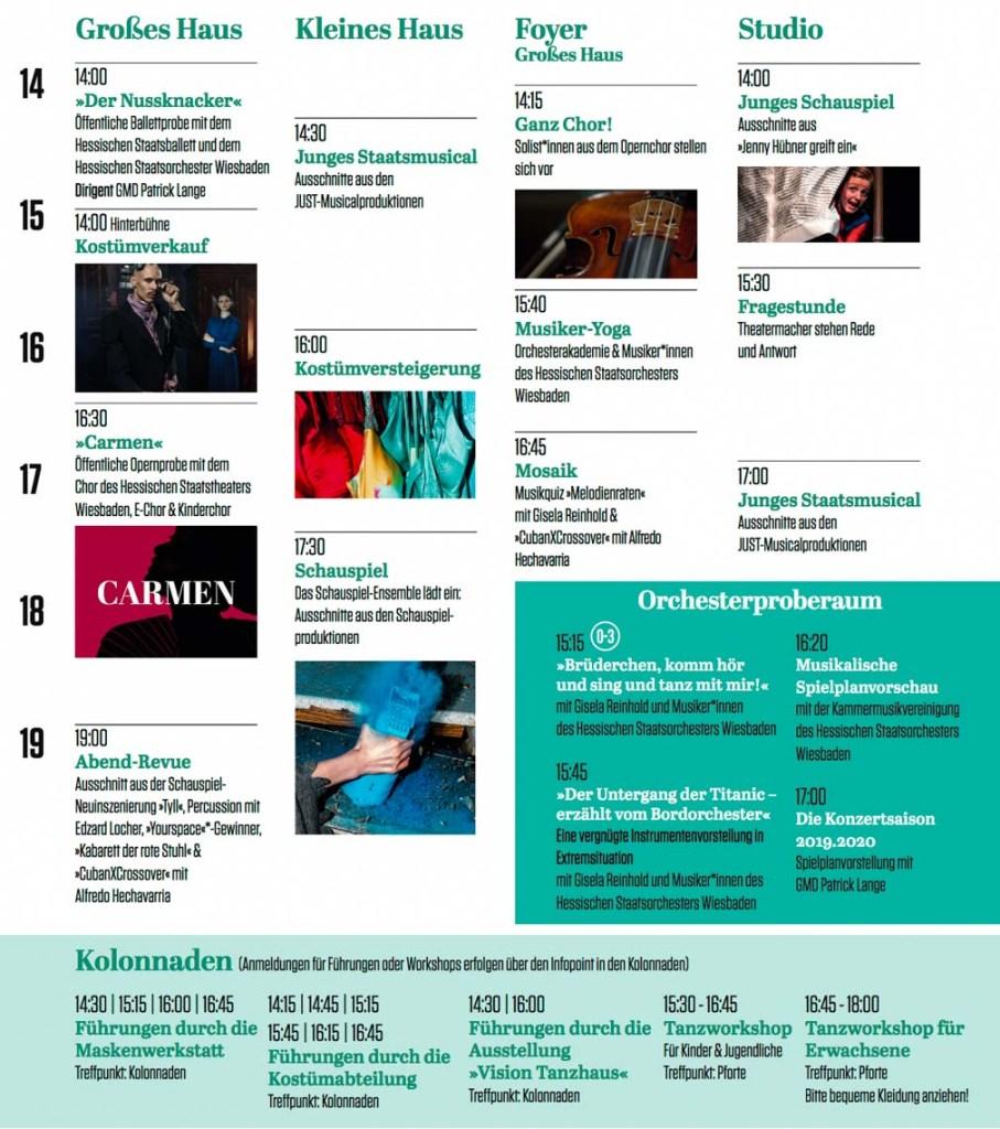 Programm beim Theaterfest 2019