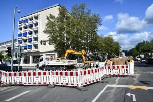 Baustelle in der Burgstraße