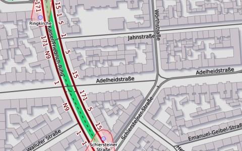 Adelheidstraße - Jahnstraße Wiesbaden