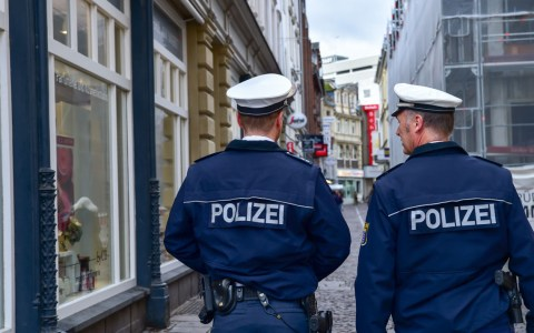 Polizeistreife in Wiesbaden