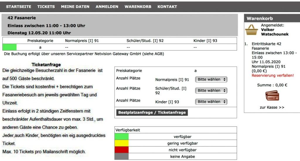 Online Ticket System der Stadt Wiesbaden