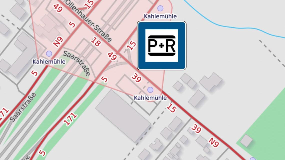 """Mehr Stellplätze für den P+R-Parkplatz """"Kahle Mühle"""""""