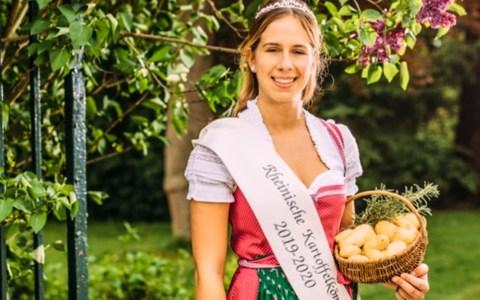 """Kartoffelkönigin Anna Müller: """"Ich bin stolz auf das Rheinland und seine Kartoffelbauern und darauf, sie noch ein weiteres Jahr vertreten zu dürfen."""""""