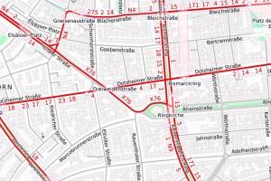 Kreuzung Klarenthaler Straße/Dotzheimer Straße wird neu gestaltet ©2020 Openstreeetmap