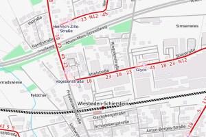 Haltestellenverlegung in Schierstein ©2020 Openstreetmap