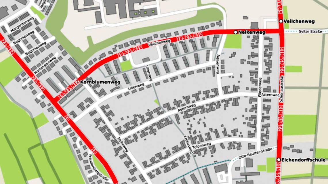 Einbahnstraßenregelung Veilchenweg