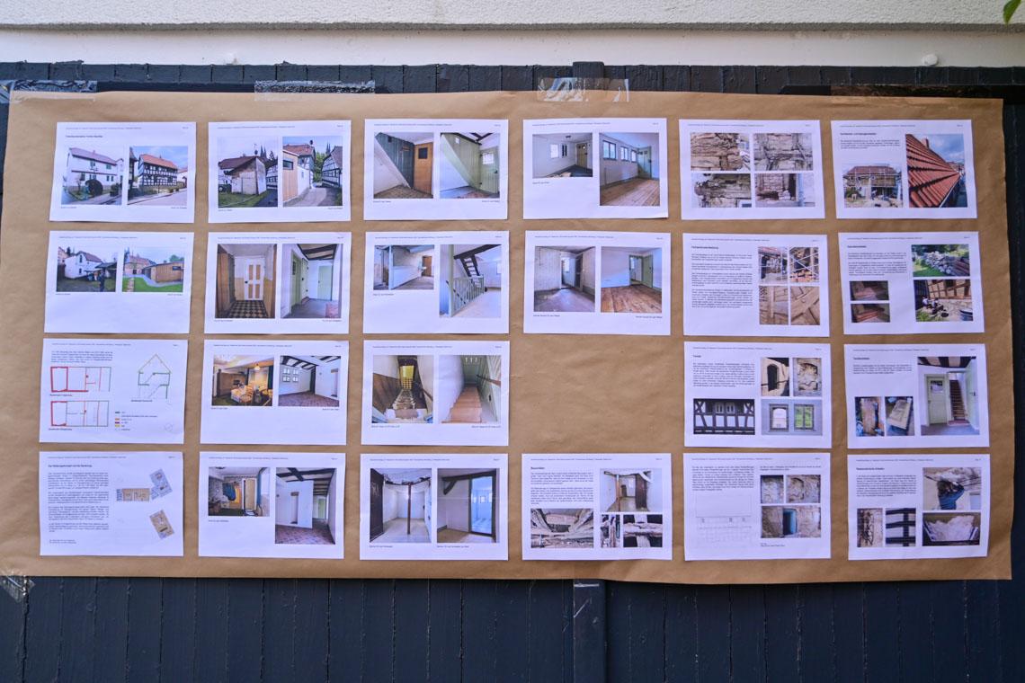 Dokumentation der Arbeiten am Fachwerkhaus