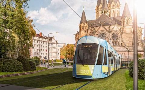 Modelzeichnung City-Bahn an der Ringkirche