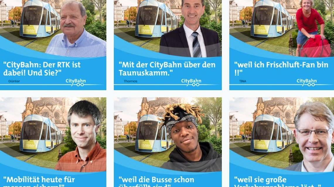 City-Bahn Befürworter sein