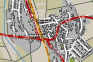 Das Tiefbau- und Vermessungsamt beginnt am Montag, 16. November, mit den Arbeiten zur Errichtung eines Fußgängerüberweges in der Glöcknerstraße in Igstadt. Die Arbeiten werden in zwei Bauabschnitten ausgeführt. Foto: Openstreetmap