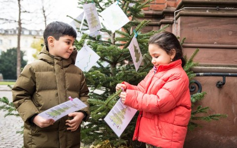 Der Christbaum für Kinder steht auch in diesem Jahr vor der Marktkirche