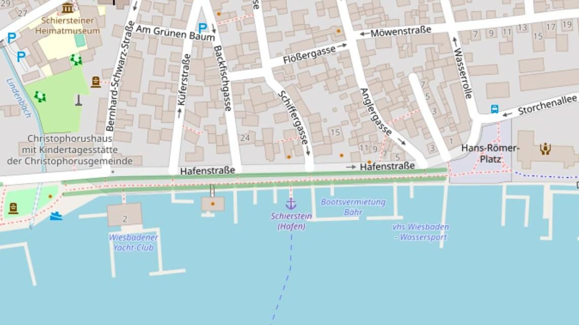 Hafenstraße in Wiesbaden Bierstadt