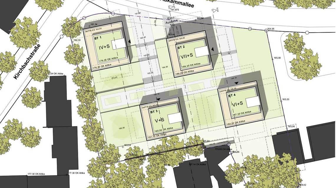 Neues Wohnquartier an der Aukammallee