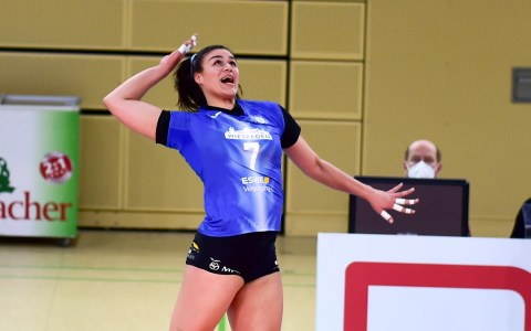 Archivbild, Marijeta Runjic – 1. Volleyball Bundesliga, Damen, 2020.2021, 16. Spieltag, VC Wiesbaden – Rote Raben Vilsbiburg, 0:3