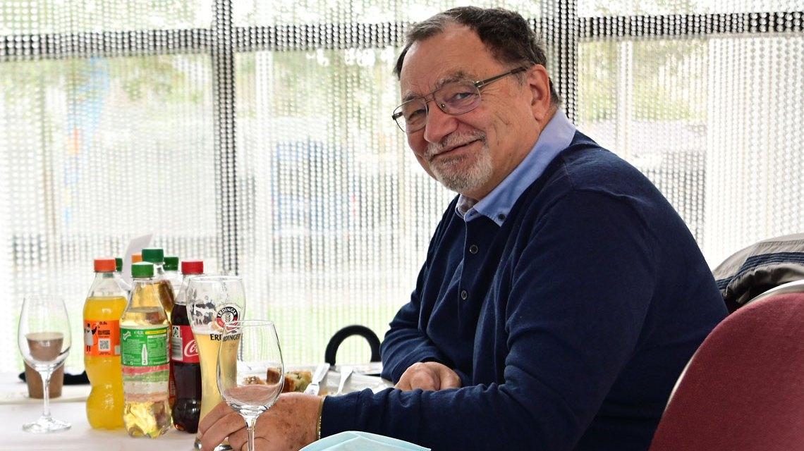 Rainer Pfeiffer beim City Biathlon in Wiesbaden