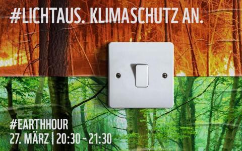 Earth Hour, nur echt mit dem Lichtschalter.