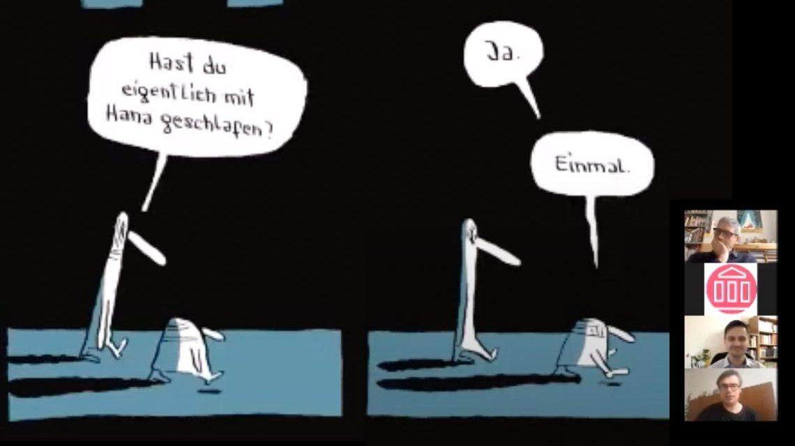 »Ihre Figuren erinnern in ihrer tapferen Niedergeschlagenheit an die Figuren aus Becketts ›Warten aus Godot‹ - mit einem Schuss ›Der brave Soldat Schweijk‹.« ― Hansruedi Kugler / St. Galler Tagblatt