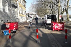 Radfahrkübel am Schiersteiner bHafen