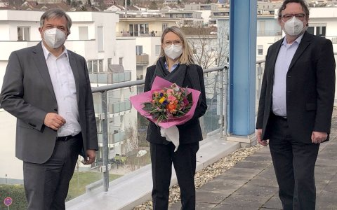 Oberbürgermeister Gert-Uwe Mende, Bernadette Boot, Rainer Emmel