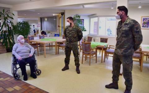 Bundeswehr testet im Moritz-Lange-Haus